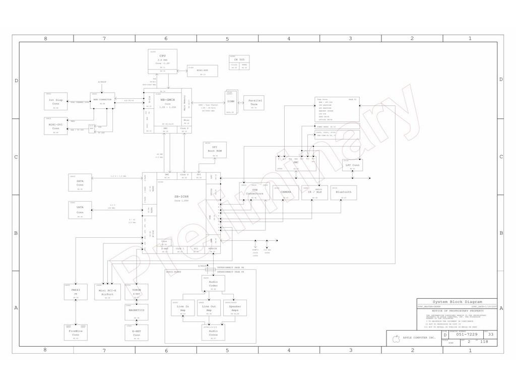 Apple Imac 24 A Schematic 820 Sch M78 Mlb