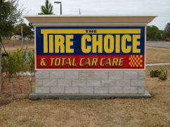 Sign Example - Tire Choice
