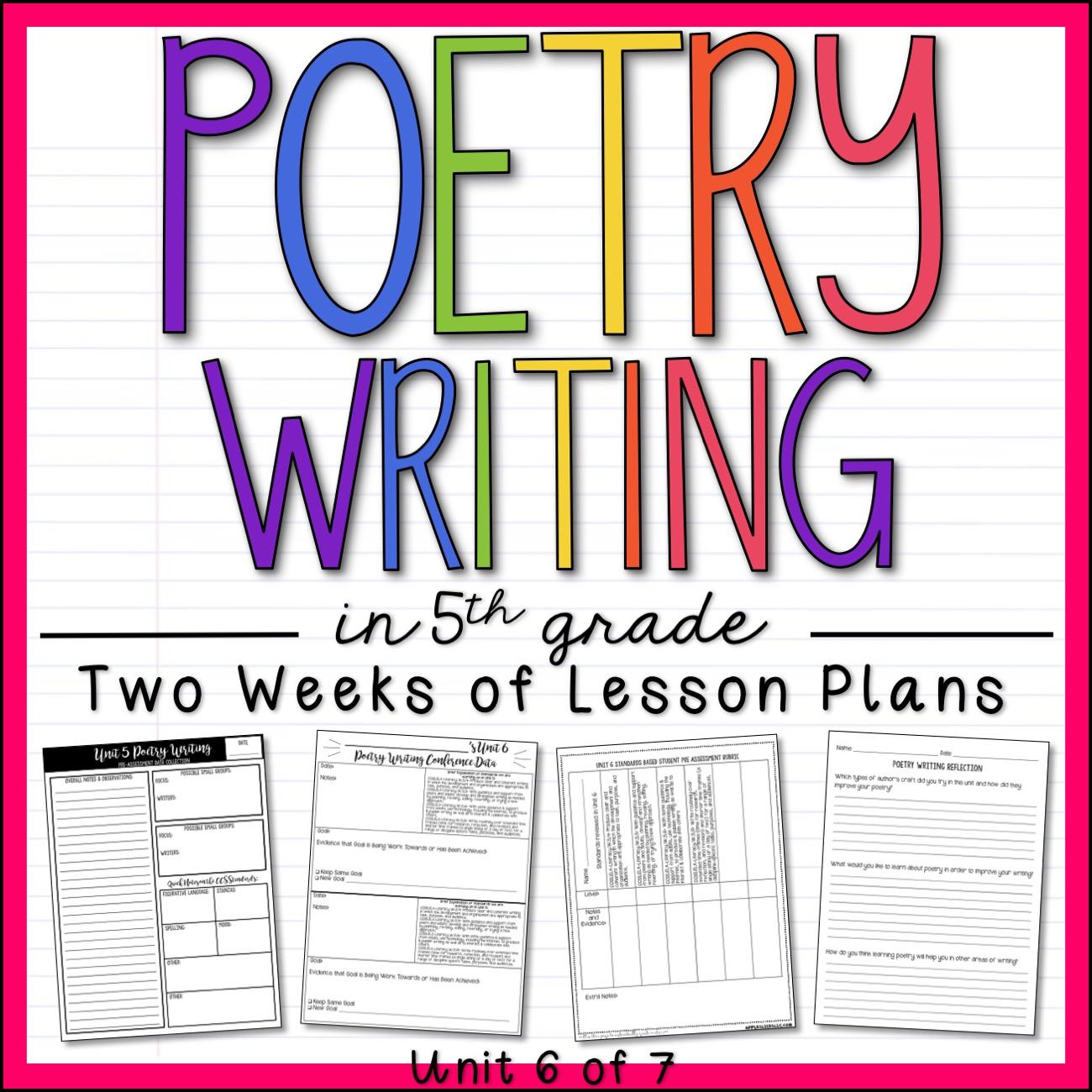 Poetry Writing 5th Grade Unit