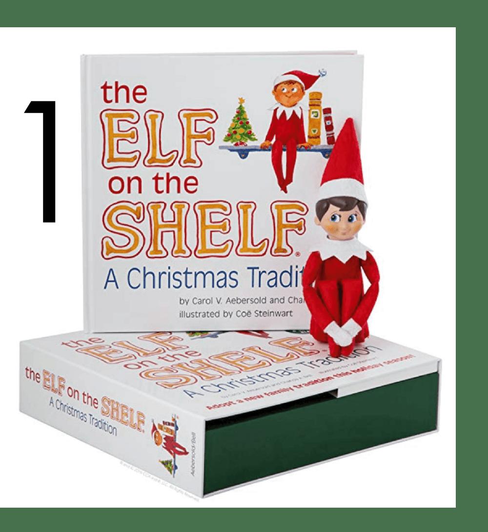 Elf on the shelf Christmas books for Apple Slices