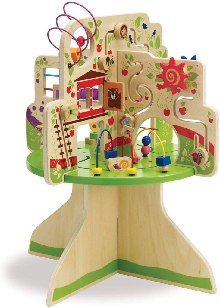 8 and 9 month Holiday Gift Guide. Perfect gifts for a 32 to 40 week old baby. A fun activity table that will keep your baby entertained for hours!