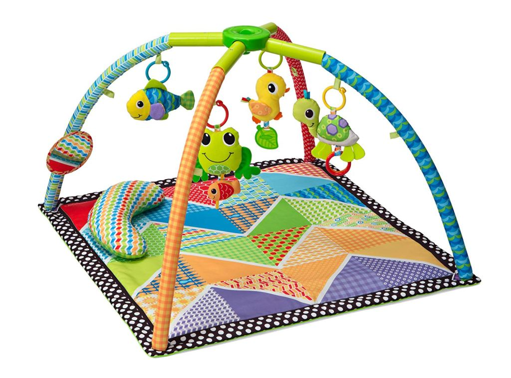 Baby Holiday Gift Guide with tummy time and activity playmat for babies 0-8 weeks old