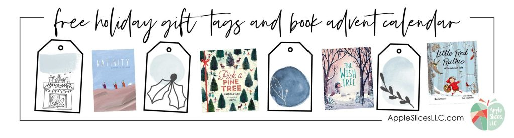 Free holiday gift tags and book advent calendar sample