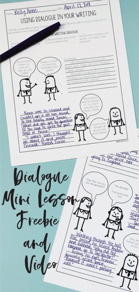Using dialogue in your writing