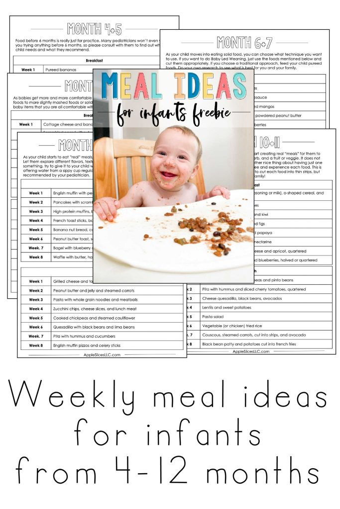 Free meal plan for infants and babies