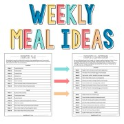 Weekly meal ideas