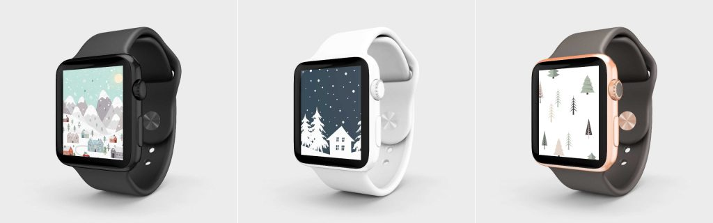 These free festive winter holiday smartwatch screens are the perfect addition to your smartwatch this holiday season!
