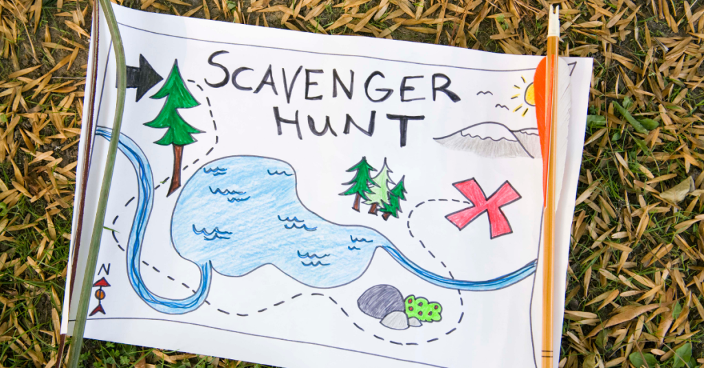 A special scavenger hunt map to lead children to a special treat to celebrate the end of the school year.