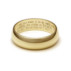 Wedding ring sayings engraved