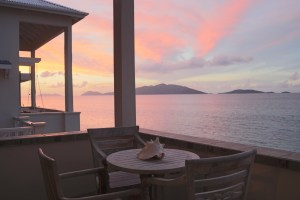 Tortola Sunset on the Patio at Applesurf Sea Breeze Suite