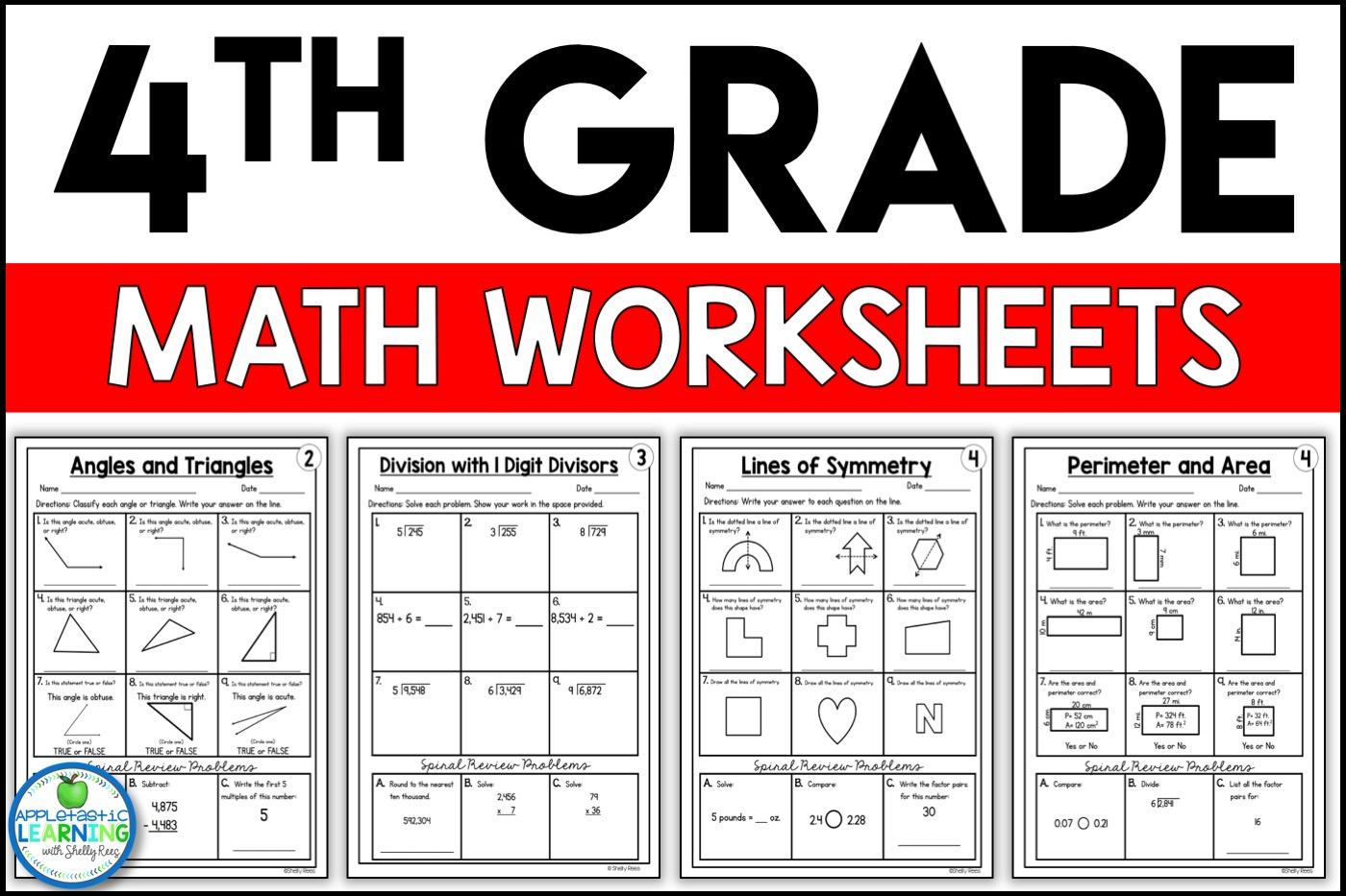4th Grade Math Worksheets Free And Printable