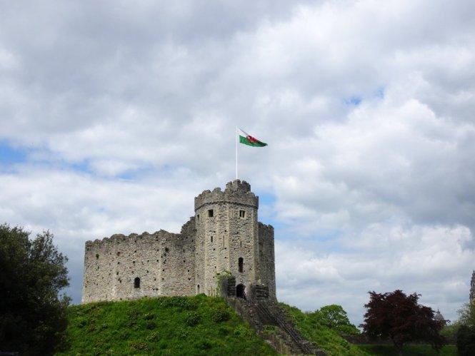 castle zentrum cardiff in wales