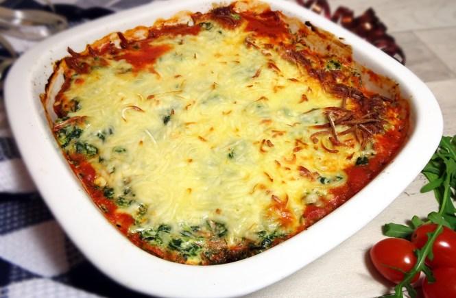 auflauf mit ricotta tomaten und spinat