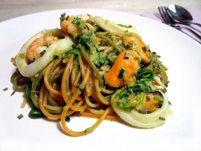 meeresfruechte Pasta mit knoblauch