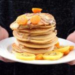 Ricotta pancake kiwi physalis protein healthy