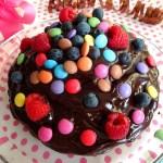 verlosung bloggeburtstag kuchen schokolade smarties