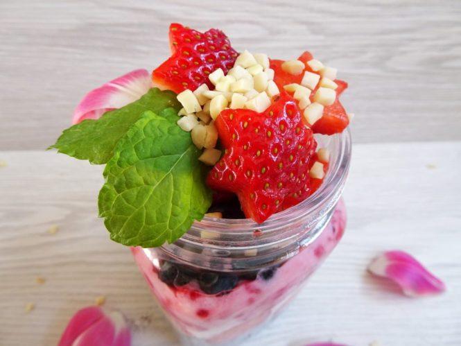 to go chia frucht joghurt erdbeere