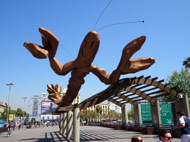 barcelona sightseeing hafenpromenade hummer sehenswürdigkeiten