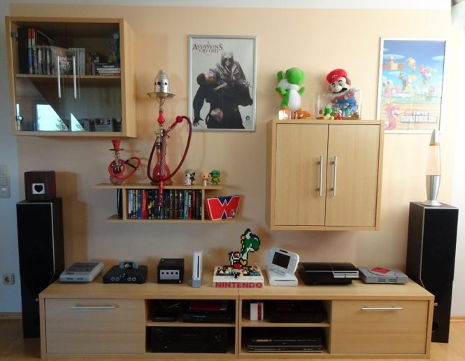 Wohnwand Nintendo