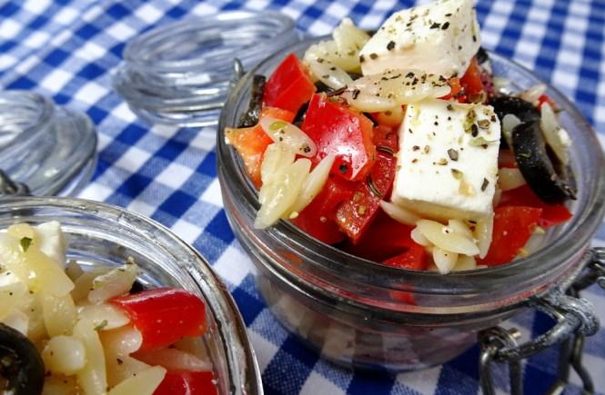 griechischer nudelsalat to go kritharaki