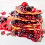 Beerensoße Pancake