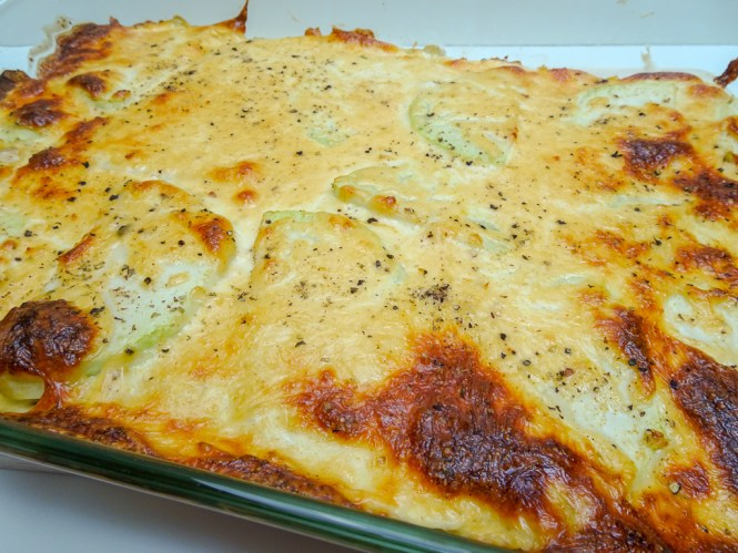 Kohlrabi Bulgur Auflauf mit Käse