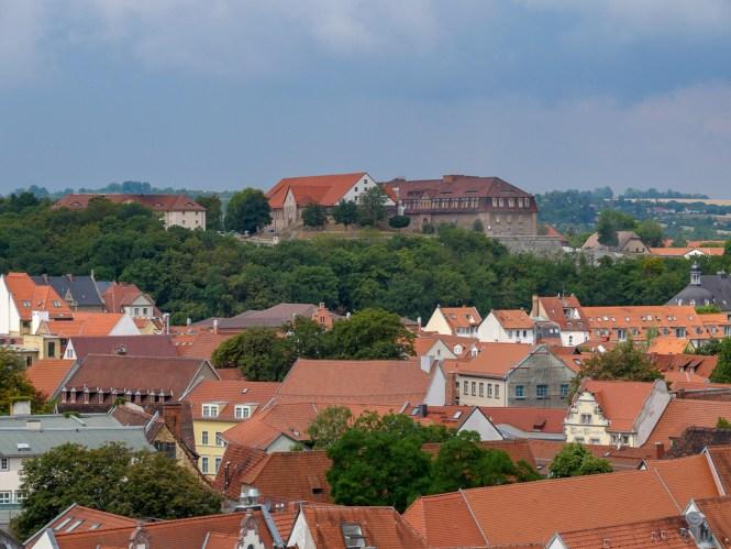 Aussicht auf die Zitadelle vom Ägidienturm Erfurt Sehenswürdigkeiten