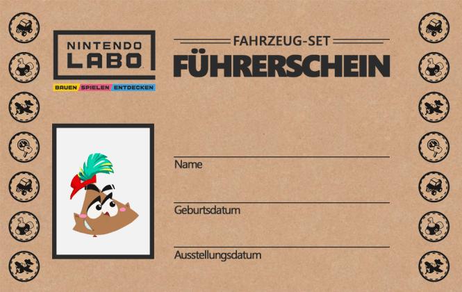 Nintendo Labo Führerschein