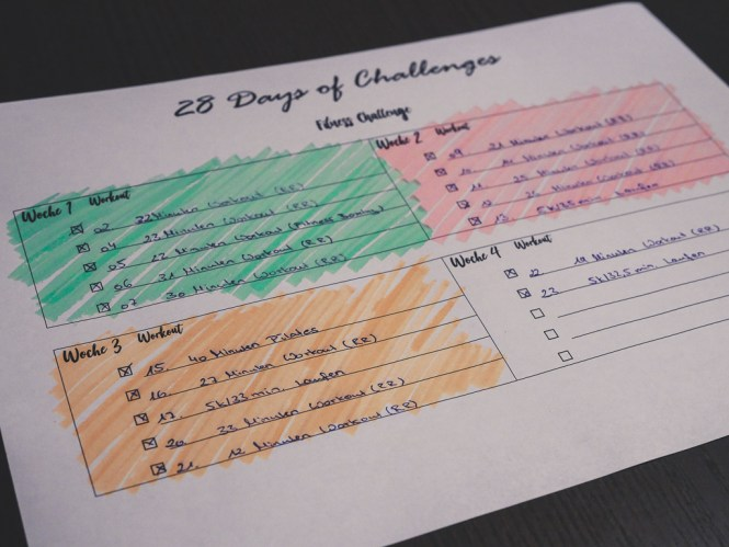 fitness challenge plan