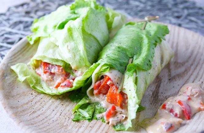 lowcarb frühstück salat wrap