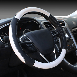 Black & White Steering Wheel Standard Size Universal Cover