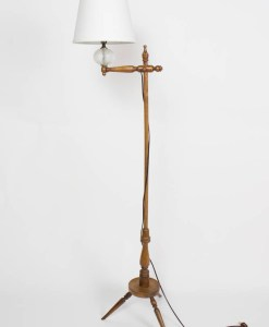 Vintage Cottage Wooden Floor Lamp