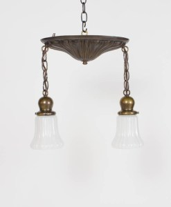 Pair of Two Light Sheffield Pendants