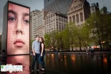 Millenium Park Chicago Engagement Photos-10