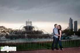 Millenium Park Chicago Engagement Photos-17