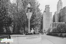 Millenium Park Chicago Engagement Photos-8