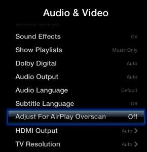 Remove Black Bars Airplay Mirroring