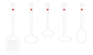 Enamelled Kitchen Tools-WHITE