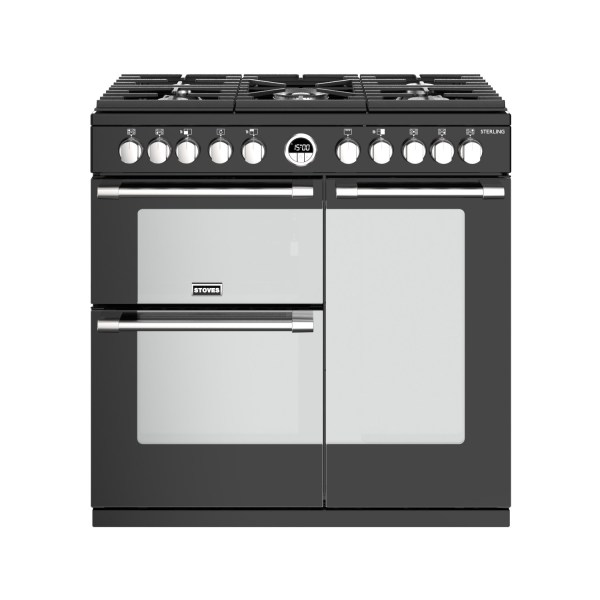 Stoves Sterling  S900DF 90cm Dual Fuel Range Cooker - Black