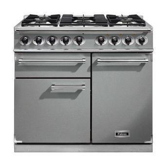 Falcon 98590 1000 Deluxe Dual Fuel Range Cooker - Stainless Steel - Matt Pan Stands