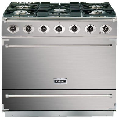 Falcon 87420 - 900S 90cm Dual Fuel Dividable Single Oven Range Cooker - Stainless Steel And Chrome - Matt Stands