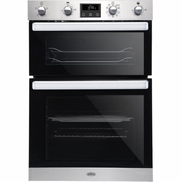Belling BI902FP Integrated Double Oven in Stainless Steel