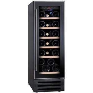 Baumatic BWC305SS/2 Integrated Wine Cooler in Black / Stainless Steel