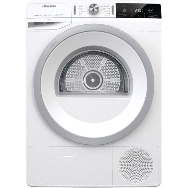 Hisense DHGA80 Free Standing Heat Pump Tumble Dryer in White