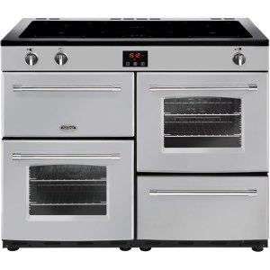 Belling Farmhouse110Ei Free Standing Range Cooker in Silver