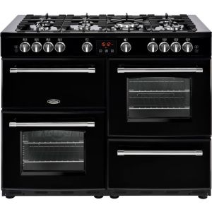 Belling Farmhouse110GT Free Standing Range Cooker in Black