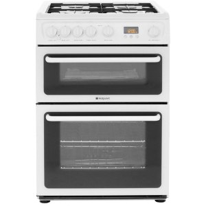 Hotpoint HAG60P Free Standing Cooker in Polar White