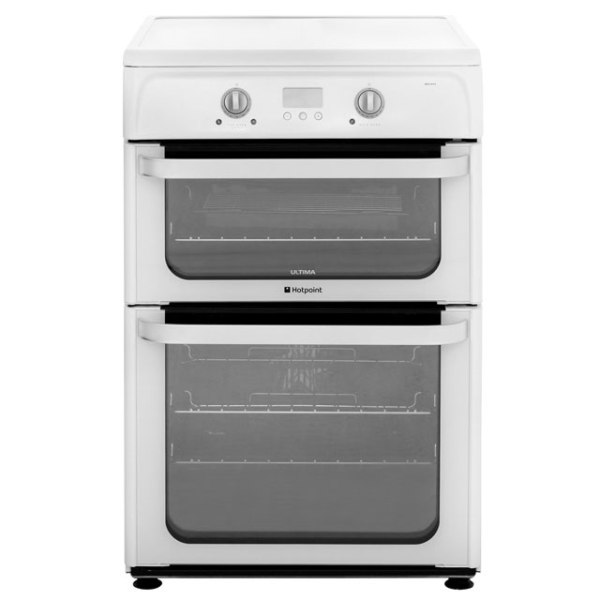 Hotpoint Ultima HUI612P Free Standing Cooker in White
