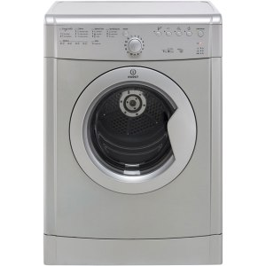 Indesit Eco Time IDVL75BRS Free Standing Vented Tumble Dryer in Silver