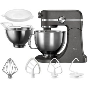 AEG Ultramix KM5540-U Food Mixer in Metallic Grey